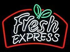 "24""x20""Fresh Express Neon Sign Light Man Cave Seafood Wall Hanging Nightlight"