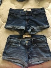Lot Used Hollister Low Rise Denim Shorts Size 1 W25