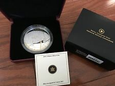 2011 $25 2OZ. Fine Silver Proof Coin - Toronto City Map Canada Gold Plated Tower