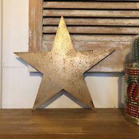 STAR RUSTIC GOLD METAL LETTER HOME HOUSE SIGN Boho Barn Shabby Chic Scandi