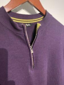 classic vintage RAPHA merino jersey M/L long sleeve 1.4 zip purple, nice
