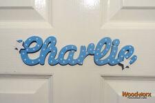 Personalised Names / Wooden Name Plaques / Door Sign / Bedroom Door 2 Stars #03