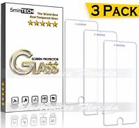 3-PACK Tempered real GLASS screen protector for iPhone XsMAx/XR/XS/X/8/7/5/Plus