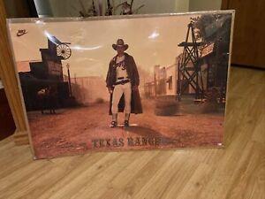 "Vintage NOLAN RYAN NIKE ""Texas Ranger"" Original 24"" x 36"" Poster Rare"