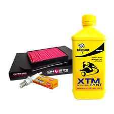 Kit tagliando Bardahl XTM 10W40 filtro aria candela Honda Foresight Jazz 250