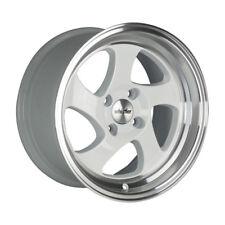 16x8 +20 Whistler KR1 4x100 WHITE Wheel Fit MINI COOPER S JCW John Works Hardtop
