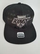 New Reebok Los Angeles KINGS Snapback Cap Hat NHL Hockey LA Black  RETRO