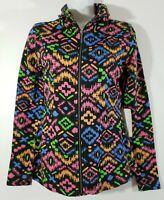 Satva Women's Maya Jacket Tribal Print Size XS Yoga Warm Up Athletic NWT