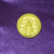 Moon Face Open Eyes Pearl Yellow Polymer Clay Cabochon Cab Diy Jewelry ☽✪☾