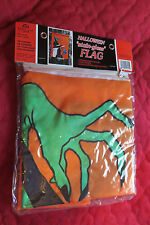 "Halloween WITCH Stained Glass 28"" x40"" Appliqued Nylon Banner Flag NEW in Pkg"