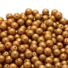 Perles Pastel Ronde Cristal Tchèque 4 mm-Orange - 50pk