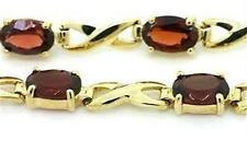 Natural 5.5ct Garnet 9K 9ct 375 Solid Gold Bracelet Bravo Jewellery