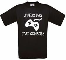 """TEE SHIRT HUMOUR """"J'PEUX PAS  J'AI CONSOLE""""4"""