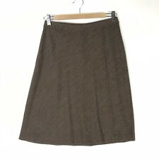 Eileen Fisher Womens Petite S PS Brown A-Line Skirt Pull On Elastic Waist