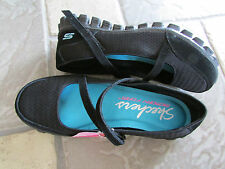 NEW SKECHERS A GAME EZ FLEX MARY JANE SHOES WOMENS 6 BLACK   FREE SHIP
