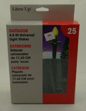LITES UP~BOX OF 25 4.5-INCH UNIVERSAL LIGHT STAKES~Outdoor C7, C9, LED +Mini~NEW