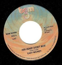 EASY MONEY Her Heart Don't Beat Vinyl Record 7 Inch US BGM 50988