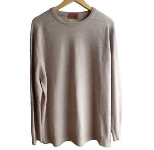Marks and Spencer Collezione Jumper Extra Fine Lambswool Size XL Putty