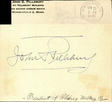 JOHN SARGENT PILLSBURY, JR. - SIGNATURE(S) 1948
