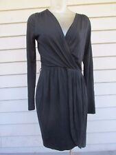 ASOS Sz 8 Black V-neck Long Sleeve Faux Wrap Women's Dress EUC