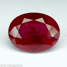 11.90cts. TOP PIGEON BLOOD RED RUBY OVAL LOOSE GEMSTONE ovale rubis rouge