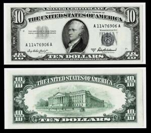 1953-A $10 SILVER CERTIFICATE NOTE~~ALMOST UNCIRCULATED
