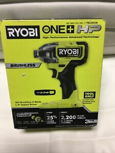 New Ryobi PBLID02 18V One Plus HP 1/4 In. Brushless Impact Driver(TOOL ONLY)