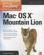 How to Do Everything Mac OS X Mountain Lion Spivey, Dwight Paperback