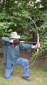 "Archery Long Bow 40lb @28in 58"" ""Desert Warrior"" FREE SHIPPING"