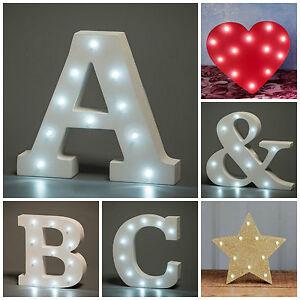 Letra Iluminada LED Carta Iluminación Decoración Boda Amor San Valentín Corazón