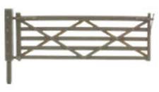 PECO Nb-46 N Gauge 3 Field Gates 3 Stiles and 1 Wicket Gate