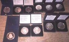 50 Gulden Niederlande - 11 Silbermünzen im Etui - von DUTCH MINT -  PROOF -