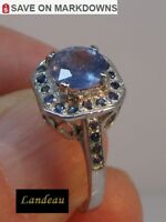 3 ct  BLUE SAPPHIRE SILVER RING