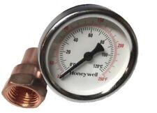 """Thermometer & Copper Kit For Moonshine Still Keg Column. 1/2"""" Npt Thread"""