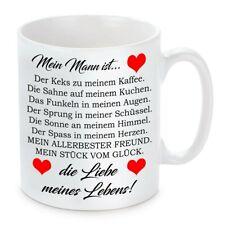 Herzbotschaft® Tasse mit Motiv: Mein Mann ist die Liebe meines Lebens