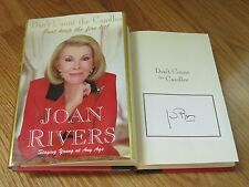 """JOAN RIVERS signed DON'T COUNT THE CANDLES """"Just Keep the Fire Lit!!"""" Book BP"""