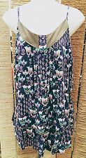 HENRY HOLLAND Strappy Purple Floral Top Size 12