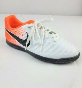 Nike Junior Legend 7 Club Soccer Shoes #AH7260-118 Size 6Y White/Orange/Black