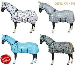 Lightweight Rug Combo Turnout Fly Rug with Neck/Belly  - FREE Mask - 2 COLOURS