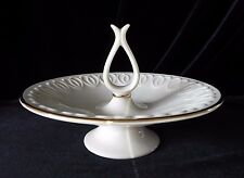 Lenox Pedestal Candy Dish Gold Trim Bowl