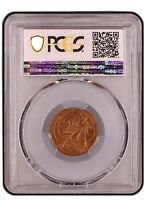 1967 Australian Decimal 2 Cent No SD Variety PCGS Grade Uncirculated MS62RB
