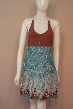 Free People Crochet Back Paisley Bandana Sundress Dress size 6