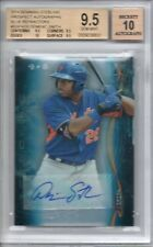 BGS 9.5 2014 Bowman Sterling Blue Ref 10 AUTO Dominic Smith #d 9/25 METS