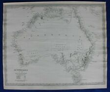 AUSTRALIA, TASMANIA, original antique map, SDUK, 1844