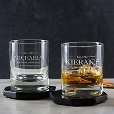 Personalised Whisky Glass Tumbler Engraved Whiskey Gifts for Men Him Dad Grandad