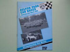 1991 Oulton Park Car Races Programme. Saturday 21st March.