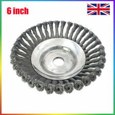 UK Solid Steel Wire Wheel Weed Brush Lawn Mower Head Trimmer for Garden 6INCH