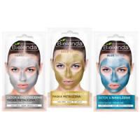 Bielenda Gold Silver and Blue DETOX Metallic Wash Off Face Mask 8g