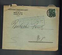 1922 Berlin Germany Inflation cover Deutsche Bank Wertheim Bankgeschaft