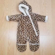Wigeon Girls 6M Faux Fur Leopard Winter Full Body Cover Up Outerwear EUC